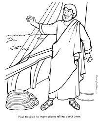Paul Bible Page To Color 028 Bible Coloring Pages Paul Bible