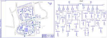 Курсовые и дипломные проекты по электроснабжению Чертежи РУ Дипломный проект Реконструкция кабельных линий г