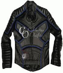 xmen wolverine black blue leather jacket
