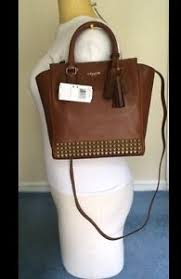 Get Quotations · NWT Coach Legacy Studded Saddle Leather Mini Tanner Tote  Crossbod