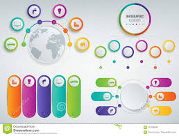 3d Infographics Templates Set Business Presentation Concept