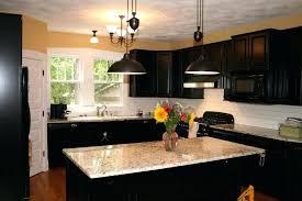 White Kitchen Cabinets Black Appliances Kitchen Black Appliances