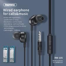 Remax RW 105 Âm Nhạc Mới Tai Nghe Chụp Tai HD Mic In Ear Jack Cắm 3.5 Mm  Dây Tai Nghe Cho iPhone 6 S 6 5 S 5 Xiaomi Samsung Huawei