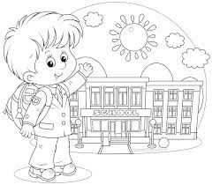 Small Picture Back to School Coloring Pages School colors School and Clip art
