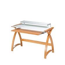 tempered glass office desk. Desk:Simple Wood Computer Desk Glass And Chrome Table Tempered Office Wide