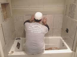 lovely tile installation installing bathtub tile