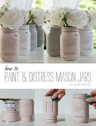 chalk painted mason jars detailed tutorial on how to paint distress mason jars