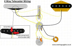 six string supplies 4 way telecaster wiring 4 way tele switch wiring mod
