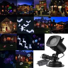 halloween outdoor lighting. Amazon.com: AcTopp Christmas Projector Lights Outdoor Holiday Light With 12+1 Switchable Pattern Lens Led Landscape Spotlight, Valentine\u0027s Day Halloween Lighting L