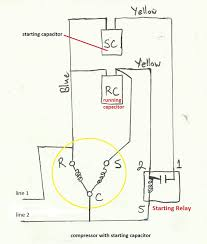 refrigeration and air conditioning repair 2013 wiring diagram of compressor starting capacitor