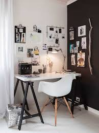 scandinavian home office. Black And White Scandinavian Home Office With Desk Plastic Chair Dowel Leg Base H
