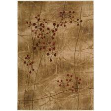 nourison somerset latte 6 ft x 7 ft area rug