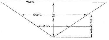 Shawl Size Chart Crochet Triangle Shawl Measurements Crochet Triangle