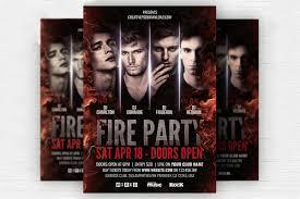 Fancy Flyers Free Fire Party Flyer Psd Template Creativetacos