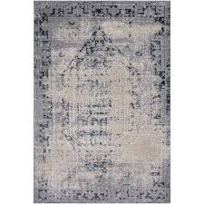 dur1009 23 2 x 3 x small charcoal gray and beige area rug