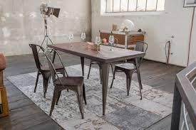 Kawola Essgruppe Tisch Kelio 160x80cm Mit 4x Stuhl Gero Holzmetall