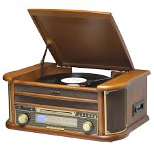 denver mcr 50 retro record player with cd cassette radio and recording to in wood
