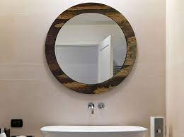 Amazon Com Wood Basics Round Decorative Wall Mirror Bathroom Mirror Round Wall Mirror Decorative Mirror Circle Mirror Wood Mirror 20 Colors Handmade