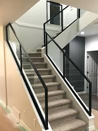 backtobasiccom glass stair railing installation