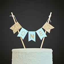 Handmade One Birthday Cake Topper 1st First Birthday Import It All
