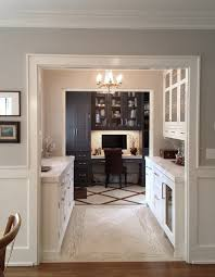 built in desk in kitchen kitchen traditional with crystal chandelier white mosaic t
