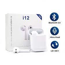 Tai nghe Bluetooth i12 TWS 5.0 Tai Nghe i12 không dây bản Quốc tế âm thanh  chuẩn HIFI dùng cho IOS và Android BH 6 Tháng