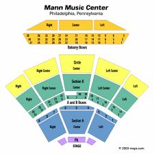 E911 Mann Music Center Seating Chart