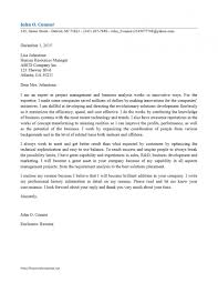 Cover Letter Business Analyst