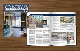Design Product News Magazine The Countertops Architectural Surfaces Magazine Also