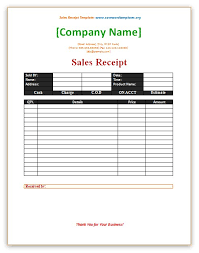 sale receipt template free sales receipt template save word templates