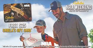 nra on twitter visit your local cabelas this weekend receive a 25 cabelas gift card when you join renew or add a year to your nra membership