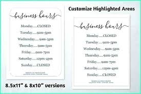 Recent Office Hours Template Word Of Holiday Sign Printable