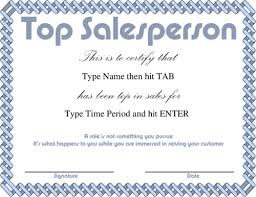 Sales Recognition Certificate Templates Award Certificate Templates