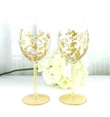 Wine Glass Decorating Designs Wedding Glasses Decoration Wedding Wine Glass Decorating Ideas 41