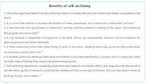 research paper downloads how to make your paper more accessible through self archiving