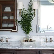 brown bathroom color ideas. Chocolate Brown Bath Cabinets With Brass Wall Sconces Bathroom Color Ideas