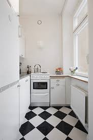 White Floor Tile Kitchen Black And White Tile Floor Kitchen Homes Design Inspiration