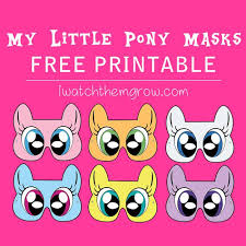 Small Picture Free Printable My Little Pony Masks I Watch Them Grow