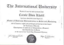 university degree certificate sample degree attestation the international university
