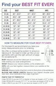 43 Explicit Cloth Sizing Chart