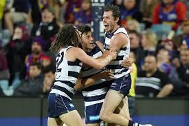 Jul 02, 2021 · the geelong cats will be keen to rebound from last week's thumping loss when they take on the essendon bombers at their gmhba fortress. Geelong Cats Pip Brisbane Lions By One Point At Kardinia Park In Afl Thriller Abc News