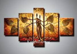 hand painted abstract 5 panel canvas art living room picture wall decor painting modern sets