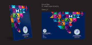 School Diary Design School Diary Cover Page Design On Behance