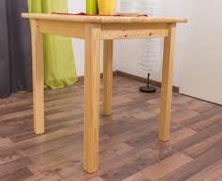 Tisch Kiefer Massiv Vollholz Natur 002 Abmessung 75 X 70 X 70 Cm