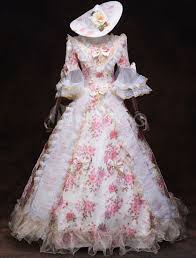 A wide variety of victorian style dresses options are available to you, such as feature, decoration, and technics. Victorian Dress Costume Women S White Rococo Masquerade Trumpet Half Sleeves Royal Floral Ruffles Victorian Era Clothing Retro Costumes Outfits Halloween Milanoo Com