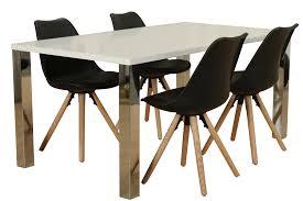 5tlg Essgruppe Esstisch Esszimmer Stuhl Stühle Tisch Sitzgruppe Weiß