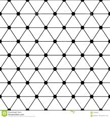Lattice Pattern Interesting Black White Triangles Lattice Simple Seamless Pattern Vector Stock