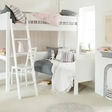 fargo highsleeper bed with daybed corner desk ivory white by little folks
