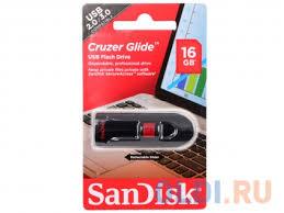 <b>USB флешка SanDisk</b> Cruzer Glide 16Gb Black (SDCZ60-016G-B35)