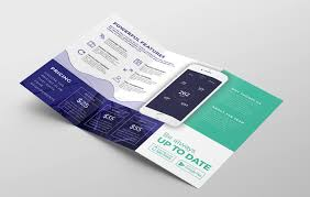 tri fold brochures mobile app tri fold brochure template psd ai vector brandpacks
